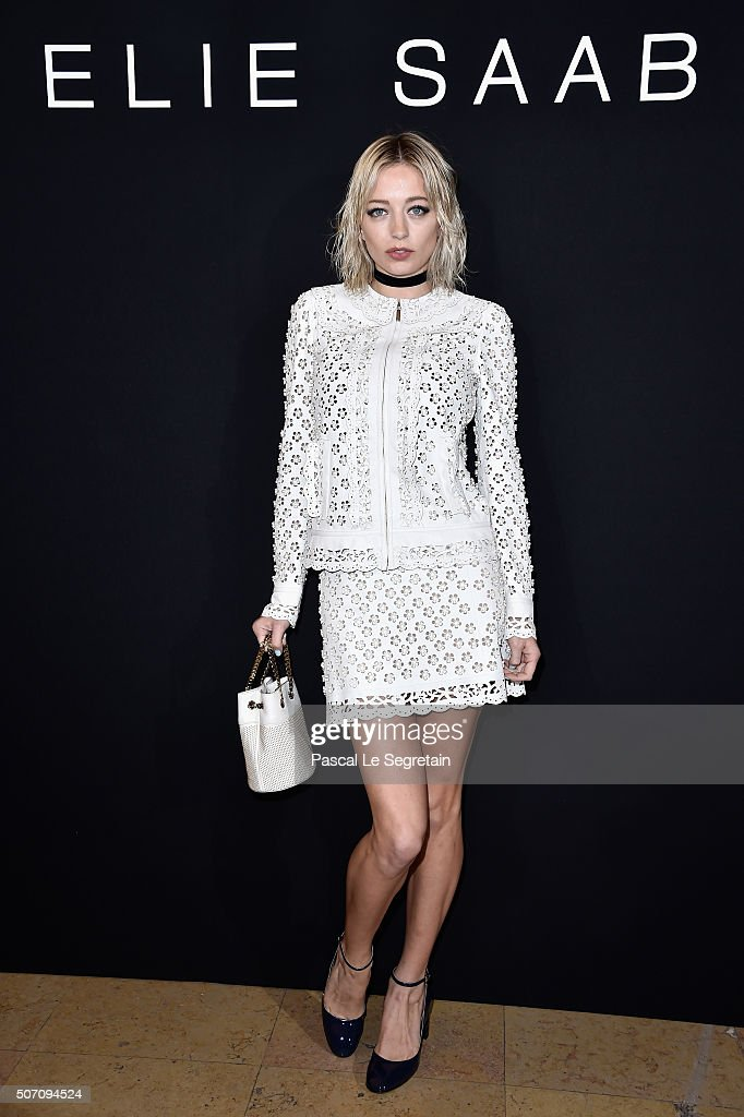 A guest attends the Jean Paul Gaultier Spring Summer 2016 show as part of Paris Fashion Week on January 27 2016 in Paris France