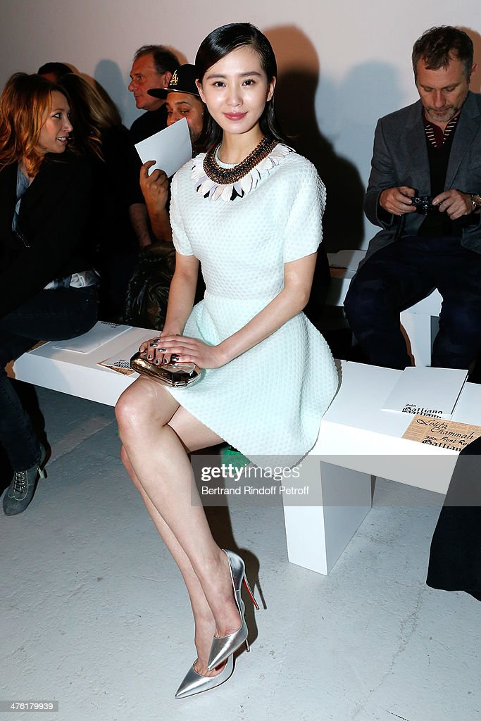 Guest attends the John Galliano show as part of the Paris Fashion Week Womenswear Fall/Winter 2014-2015 on March 2, 2014 in Paris, France.