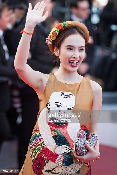 A guest attends the 'Julieta' premiere during the 69th annual Cannes Film Festival at the Palais des Festivals on May 17 2016 in Cannes France