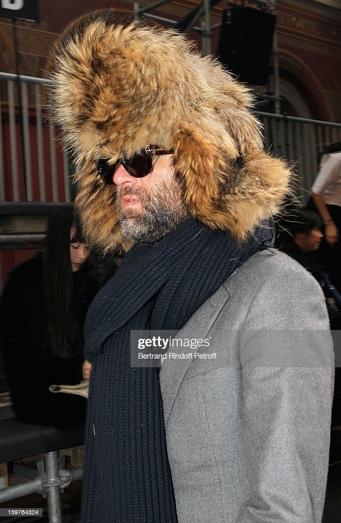 A guest attends the Lanvin Men Autumn / Winter 2013 show at Ecole Nationale Superieure Des Beaux-Arts as part of Paris Fashion Week on January 20, 2013 in Paris, France.