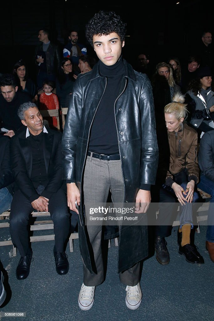 Guest attends the Lanvin Menswear Fall/Winter 2016-2017 show as part of Paris Fashion Week on January 24, 2016 in Paris, France.