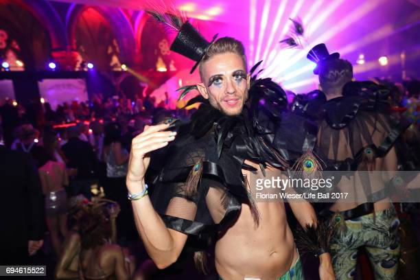 A guest attends the Life Ball 2017 after show party at Volksgarten on June 10 2017 in Vienna Austria