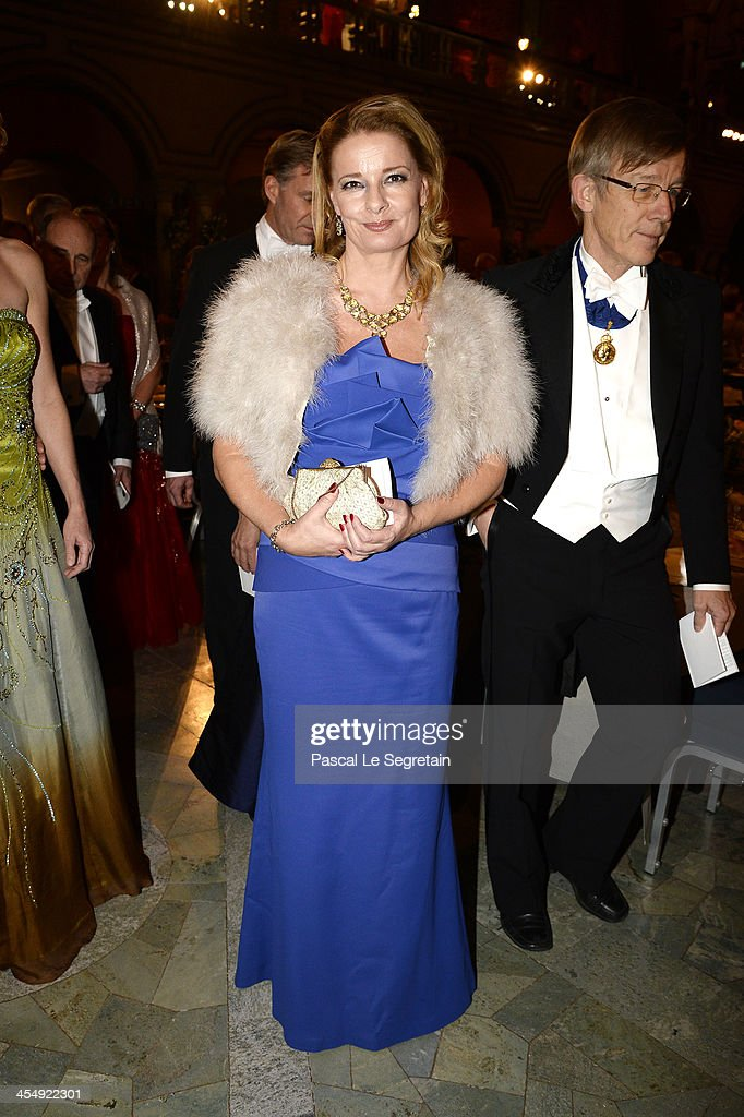 A guest attends the Nobel Prize Banquet after the 2013 Nobel Prize Awards Ceremony at City Hall on December 10, 2013 in Stockholm, Sweden.