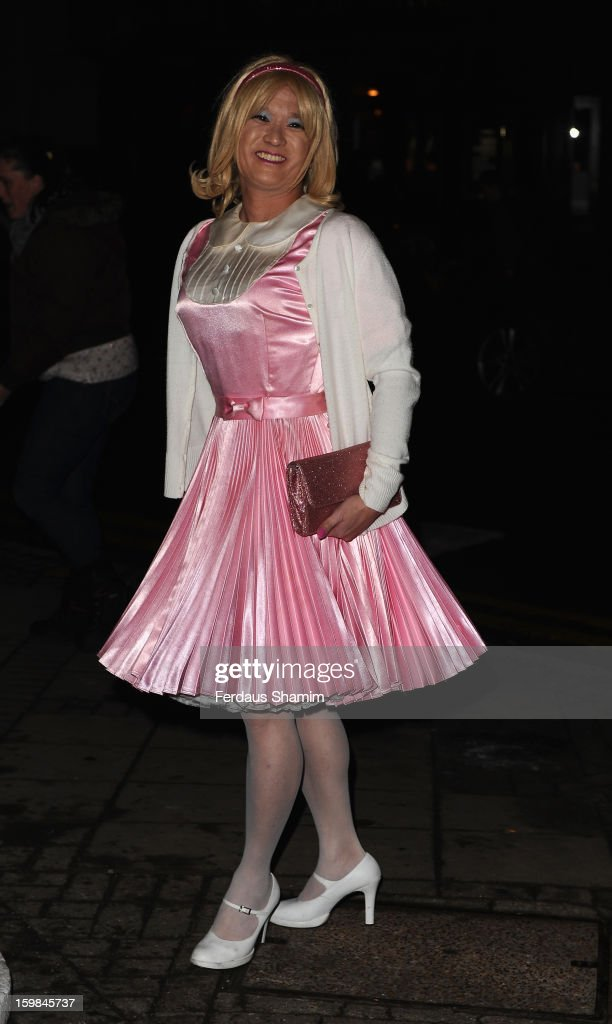 Guest attends the opening night of The Rocky Horror Picture Show at New Wimbledon Theatre on January 21, 2013 in Wimbledon, England.