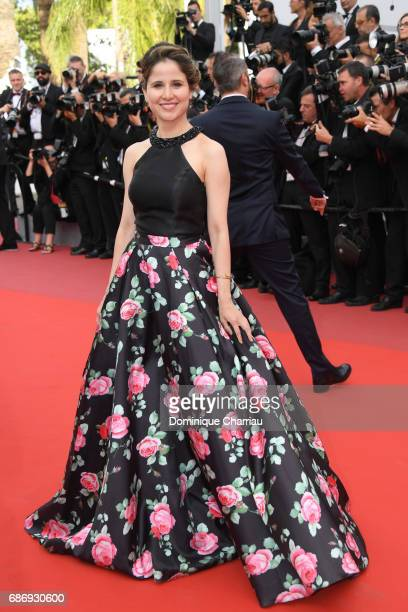 A guest attends the 'The Killing Of A Sacred Deer' screening during the 70th annual Cannes Film Festival at Palais des Festivals on May 22 2017 in...