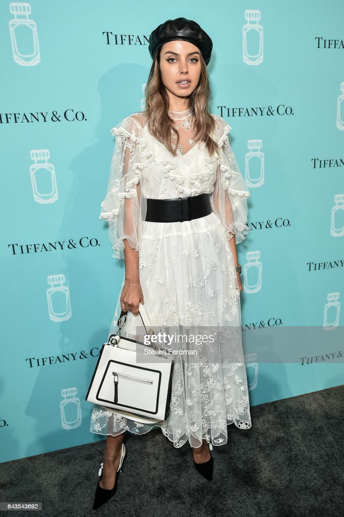Guest attends the Tiffany & Co. Fragrance launch event on September 6, 2017 in New York City.