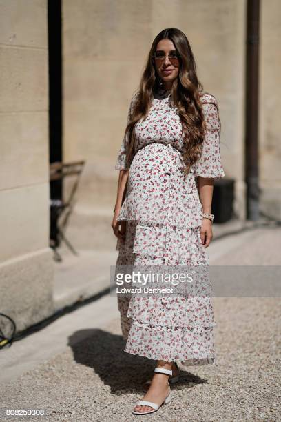 A guest attends the Ulyana Sergeenko Haute Couture Fall/Winter 20172018 show as part of Haute Couture Paris Fashion Week on July 4 2017 in Paris...