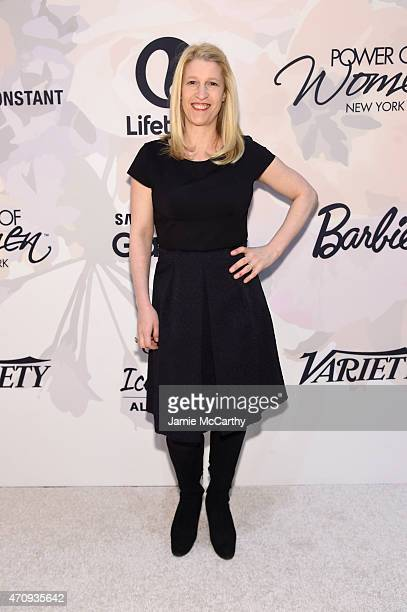 A guest attends Variety's Power of Women New York presented by Lifetime at Cipriani 42nd Street on April 24 2015 in New York City