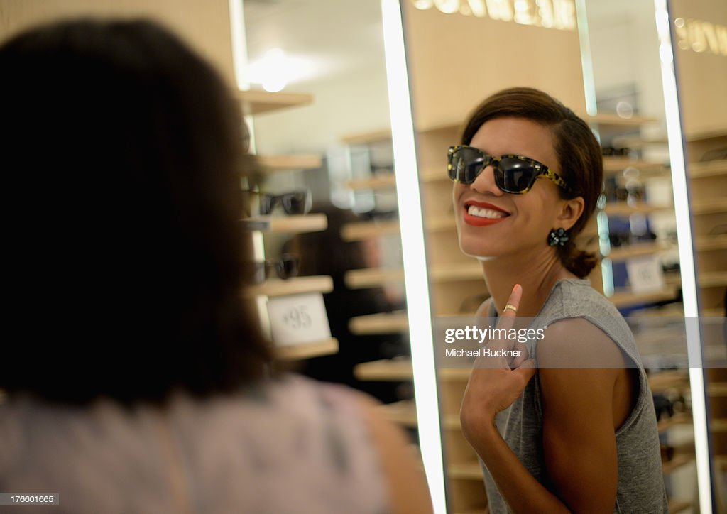 Guest attends Warby Parker's store opening in The Standard, Hollywood on August 15, 2013 in Los Angeles, California.