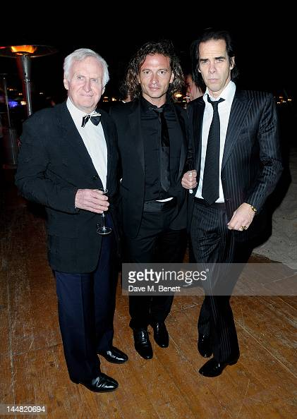 Guest Belstaff owner Manuele Malenotti and screenwriter Nick Cave attend the 'Lawless' after party hosted by Manuele Malenotti Johnnie Walker Blue...