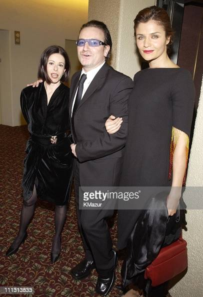 Guest Bono Helena Christensen during Bono Honored with Humanitarian Laureate Award by the Simon Wiesenthal Center at Marriott Marquis Hotel in New...