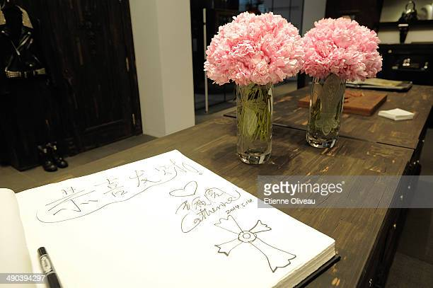 Guest book during the Chrome Hearts Beijing Store Opening on May 14 2014 in Beijing China