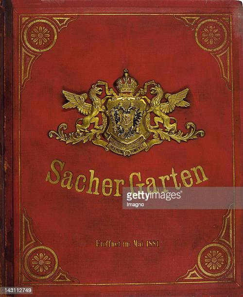 Guest book of the Restaurant SacherGarten in the viennese Prater Opend 1881
