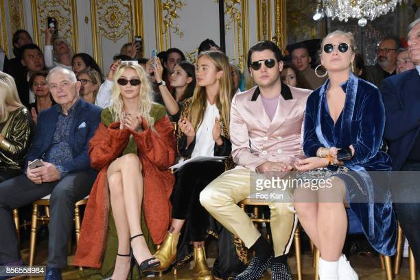 A guest Cailin Russo and Lady Amelia Windsor attend the John Galliano show as part of the Paris Fashion Week Womenswear Spring/Summer 2018 on October...