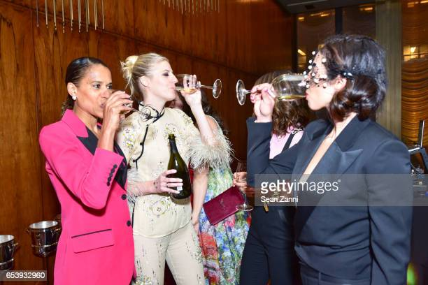 Guest Casey Fremont and Shari Loeffler attend Art Production Fund's Bright Lights Big City Gala at Seagram Building on March 13 2017 in New York City