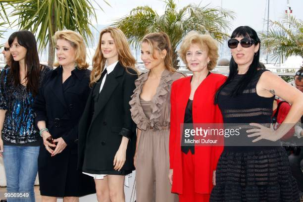 Guest Catherine Deneuve Pilar Lopez de Ayala Elsa Pataky Marisa Paredes and Rossy de Palma attend the 'Homage To The Spanish Cinema' photocall at the...