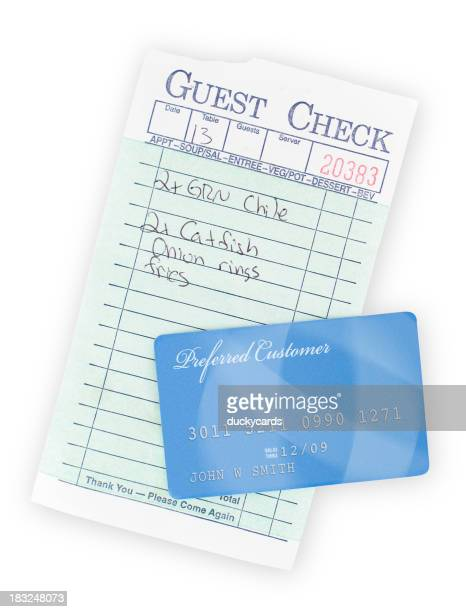 Guest Check and Credit Card
