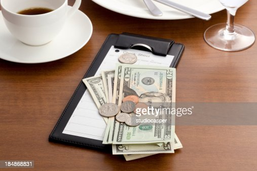 Guest check with Cash and Coin
