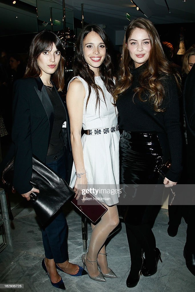 Guest, Chelsea Tyler and Marie-Ange Casta attend the Tom Ford Flagship Opening Cocktail as part of Paris Fashion Week at on March 1, 2013 in Paris, France.