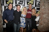 Guest Christian Borle Laura Bell Bundy director Jerry Mitchell and Orfeh of 'Legally Blonde The Musical'