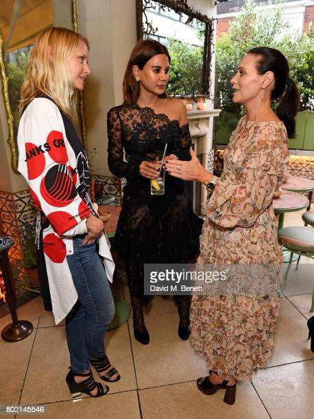 Guest Christine Centenera and Nicky Zimmermann attend an intimate dinner hosted by Nicky Zimmermann and Margot Robbie to celebrate the opening of the...