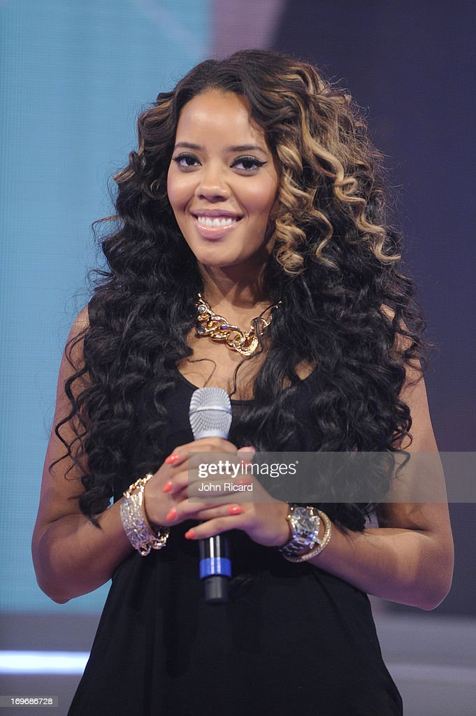 Guest Co-Host <a gi-track='captionPersonalityLinkClicked' href=/galleries/search?phrase=Angela+Simmons&family=editorial&specificpeople=653461 ng-click='$event.stopPropagation()'>Angela Simmons</a> at BET's '106 & Park' at BET Studios on May 30, 2013 in New York City.