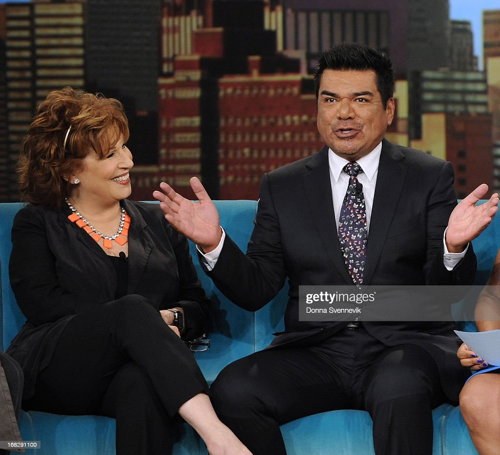 """THE VIEW - (5.7.13) Guest co-host Mindy Kaling (""""The Mindy Project""""); George Lopez (author, I'm Not Gonna Lie); musical guest 98 Degrees; Nina Blackwood, Mark Goodman, Alan Hunter and Martha Quinn (book, LOPEZ"""