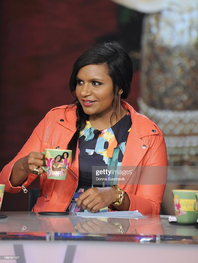 """THE VIEW - (5.7.13) Guest co-host Mindy Kaling (""""The Mindy Project""""); George Lopez (author, I'm Not Gonna Lie); musical guest 98 Degrees; Nina Blackwood, Mark Goodman, Alan Hunter and Martha Quinn (book, KALING"""