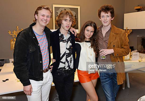 Liam Toon Connor Hirst Amba Jackson and Rudy Blu attend the launch of the new 'Jade Jagger' New Bond Street showroom on May 6 2014 in London England