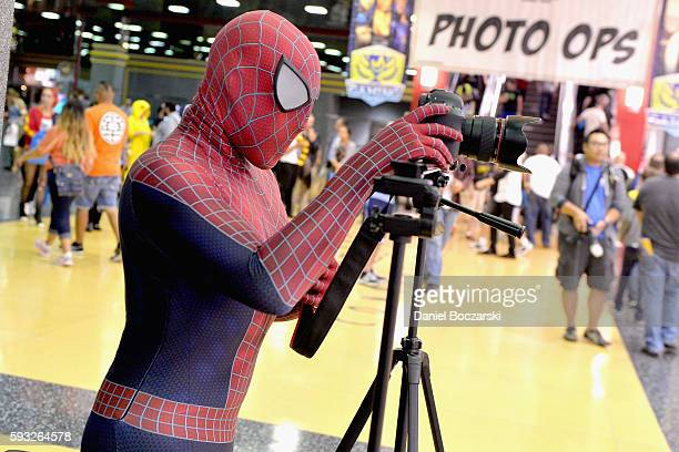 Guest cosplays as Spiderman during Wizard World Comic Con Chicago 2016 Day 4 at Donald E Stephens Convention Center on August 21 2016 in Rosemont...