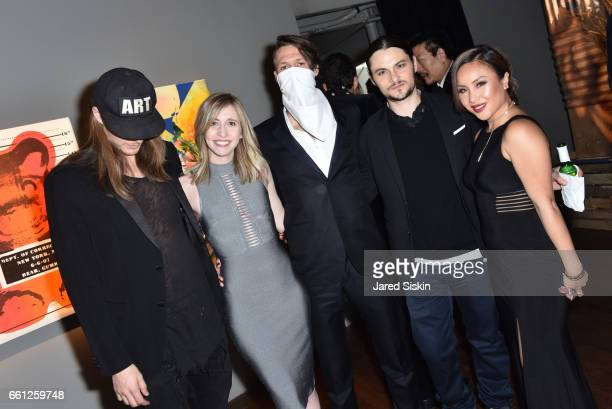 Guest Danielle Eden Thrashbird Shiloh Fernandez and guest and attend the First Annual Medair Gala at Stephan Weiss Studio on March 30 2017 in New...
