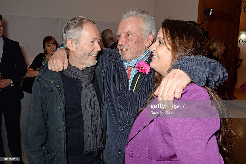 Guest David Bailey and Paloma Bailey attend a private view of Bailey's Stardust a exhibition of images by David Bailey supported by Hugo Boss at the...