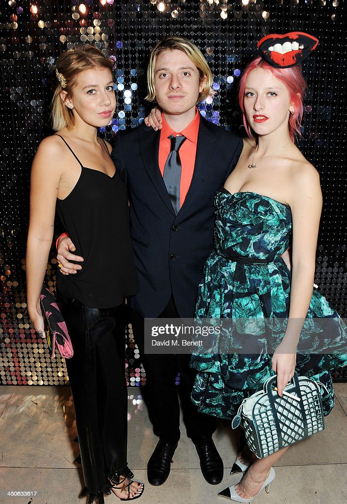 Guest, Dominic Jones and Harriet Verney attend the private view of Isabella Blow: Fashion Galore!, a new Somerset House exhibition, at Somerset House on November 19, 2013 in London, England.