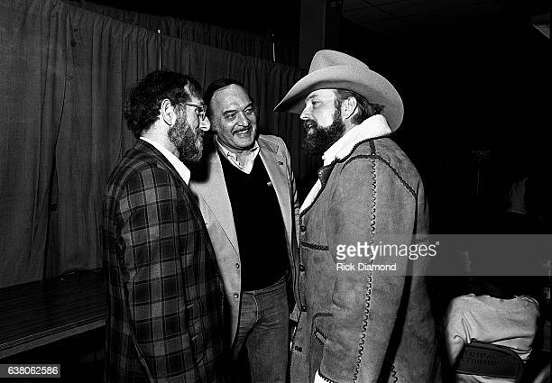 Guest Donald Dempsey GM Epic Portrait Associated Labels and Charlie Daniels backstage during Charlie Daniels Volunteer Jam VII at the Municipal...