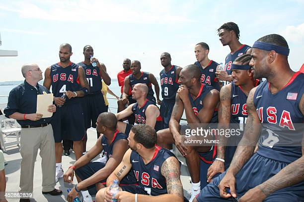 Guest Dwight Howard Michael Redd Dwyane Wade Tayshaun Prince and Chris Bosh Jason Kidd Kobe Bryant Carmelo Anthony and LeBron James Chris Paul and...