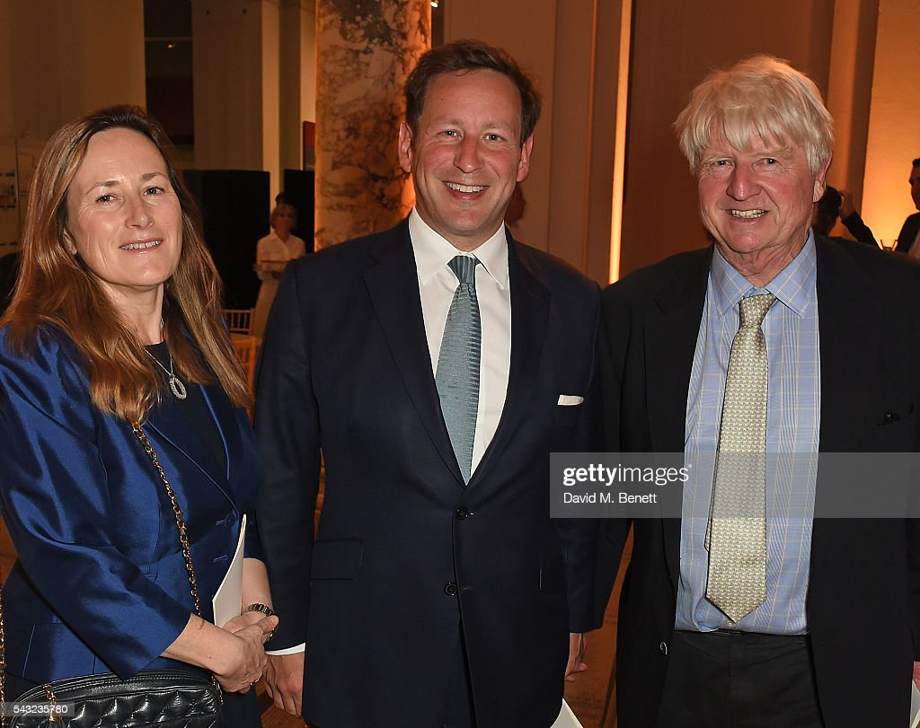 Guest, Ed Vaizey and Stanley Johnson attend a celebration of the Life of Lord George Weidenfeld on June 26, 2016 in London, England.