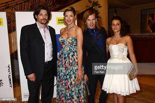 A guest Eleonore Boccara Christophe Guillarme and Priscilla Betti attend the '20th Amnesty International France' Gala At Theatre Des champs Elysees...