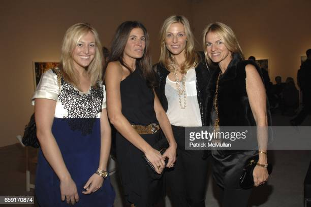 guest Elizabeth Saltzman Walker Jamie Tisch and Crystal Lourd attend An Intimate Dinner Hosted By Tierney Gearon and ACE Gallery In Preview of Her...