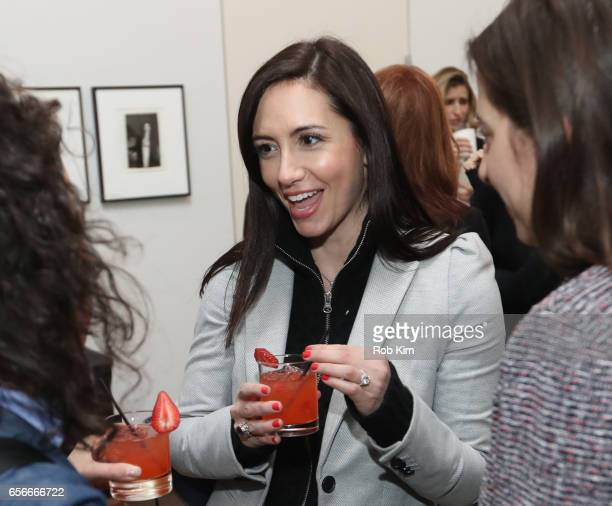 A guest enjoys a cocktail at the Female Bosses celebration and BOSS BITCH book launch and interactive panel event at The Core Club on March 22 2017...