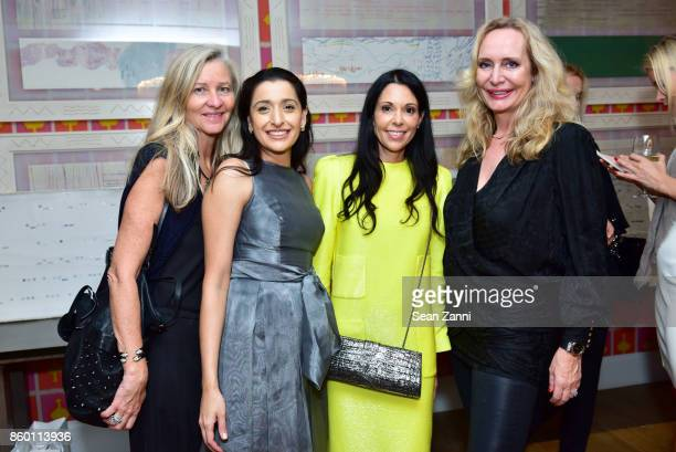 Guest Fareen Butt Sophie Bonvin and MarieClaire Gladstone attend the launch of The Collector Geneva's Sophie Bonvin Code Collection in Collaboration...