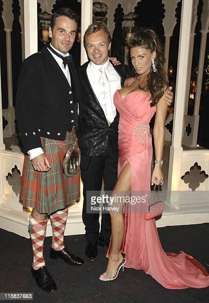 Guest Graham Norton and Katie Price during The 8th Annual White Tie and Tiara Ball to Benefit the Elton John AIDS Foundation in Association with...