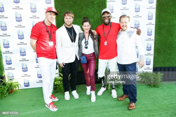 Guest Guest Actress Kira Reed Lorsch Athlete Blake Leeper and Rio Vista Universal President James Ganiere attend the UCLA Operation Mend 10 Year...