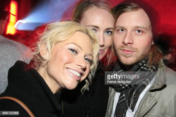 guest guest and Alexander Noe attend RADAR ENTERTAINMENT THE LAST MAGAZINE Toast Fashion Week at Studio 385 Broadway on February 20 2009 in New York...