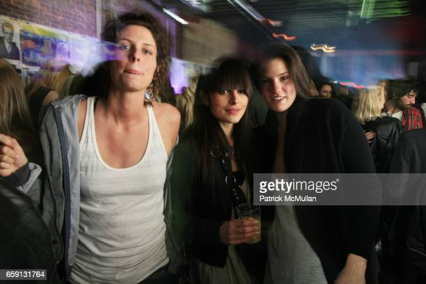 guest guest and Rush Zimmerman attend RADAR ENTERTAINMENT THE LAST MAGAZINE Toast Fashion Week at Studio 385 Broadway on February 20 2009 in New York...