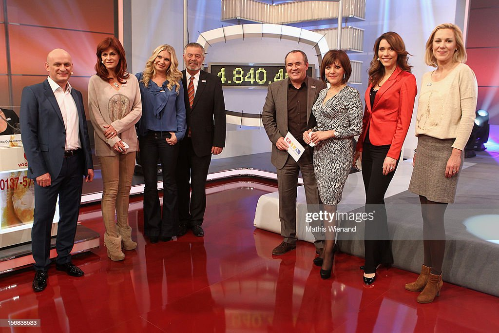 Guest, Harry Wijnvoord, Magdalena Brzeska, Andrea Berg, Wolfgang Kons, Birgit Schrowange, Annett Moeller and Bettina Wulff attend the 'RTL Spendenmarathon' at RTL Studio Huerth on November 22, 2012 in Cologne, Germany.