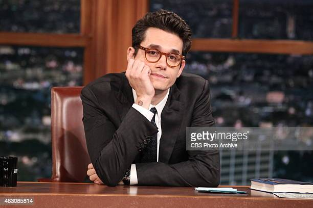 Guest Host John Mayer on THE LATE LATE SHOW with guests Andy Cohen Alison Becker John Legend on Feb 4 2015 on the CBS Television Network