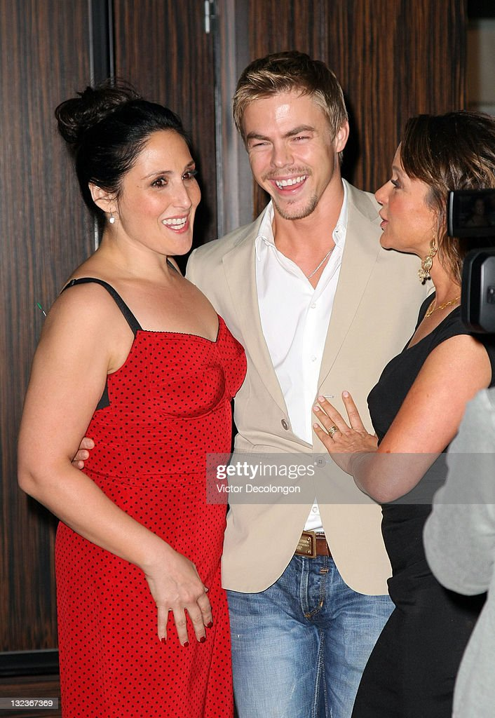Guest Host Ricki Lake, Actor Derek Hough and Actress Jennifer Grey arrive for The Big Brothers Big Sisters Of Greater Los Angeles' '2011 Rising Stars Gala' at The Beverly Hilton hotel on October 28, 2011 in Beverly Hills, California.