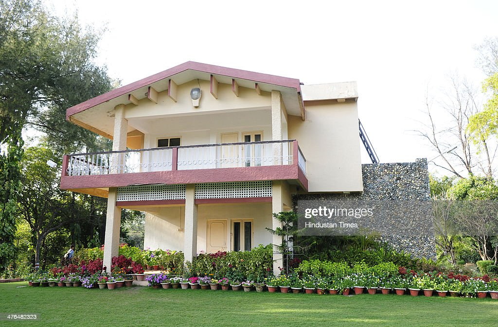 A guest house at Kukrail picnic sport where Sahara India chief Subrata Roy was kept in police custody on March 3, 2014 in Lucknow, India. Sahara Chief Subrata Roy is being brought to Delhi by Uttar Pradesh police following his arrest to be produced before the Supreme Court tomorrow.