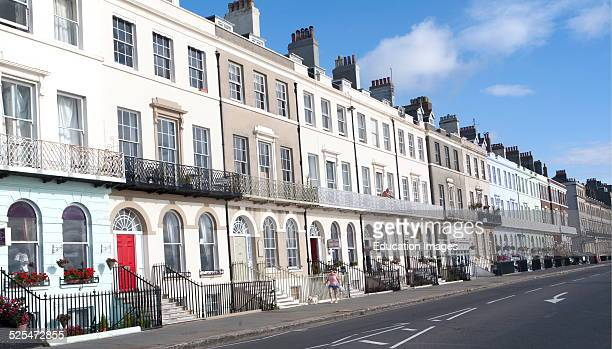Guest houses and small hotels offering bed and breakfast accommodation on the Esplanade Weymouth England