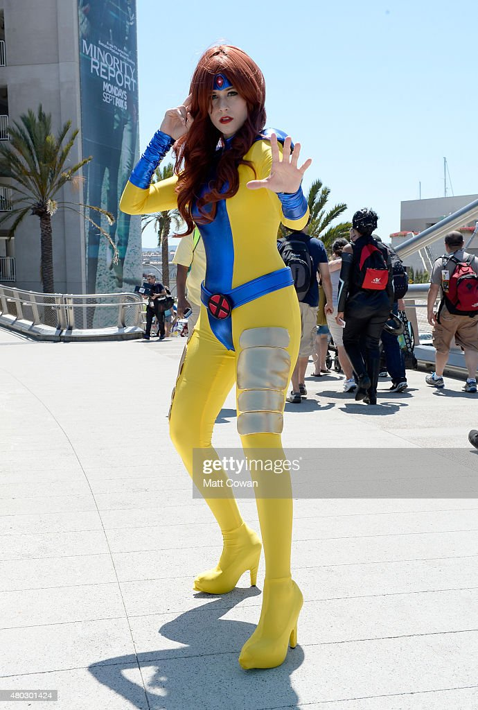 Guest in cosplay attends ComicCon International 2015 on July 10 2015 in San Diego California